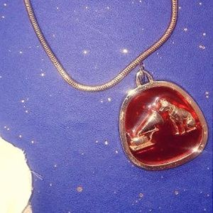 "Vintage Necklace ""Victrola"" Pendant"